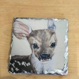 Nadine Sutterby- Slate Baby Deer Coaster